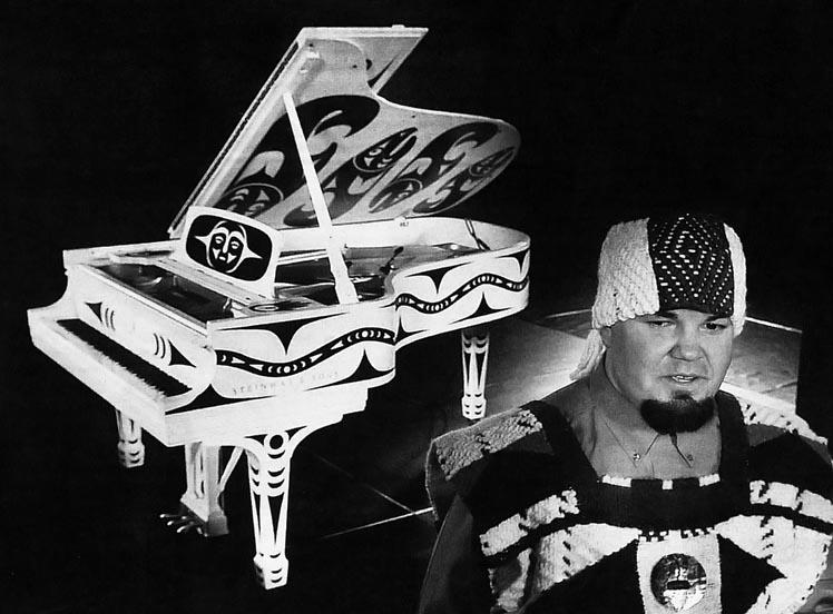 First Nations Coast Salish Grand Piano White