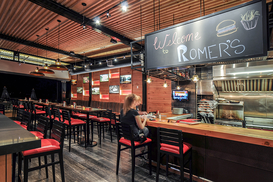 Romer's Restaurant, at River District